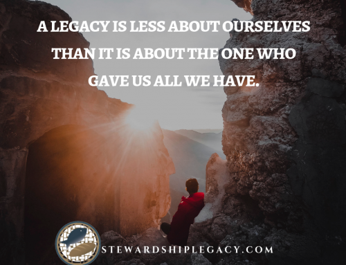 Letting Go to Leave a Legacy